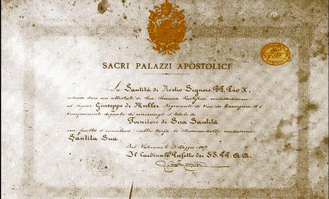 DeMuller Proveedores pontificios